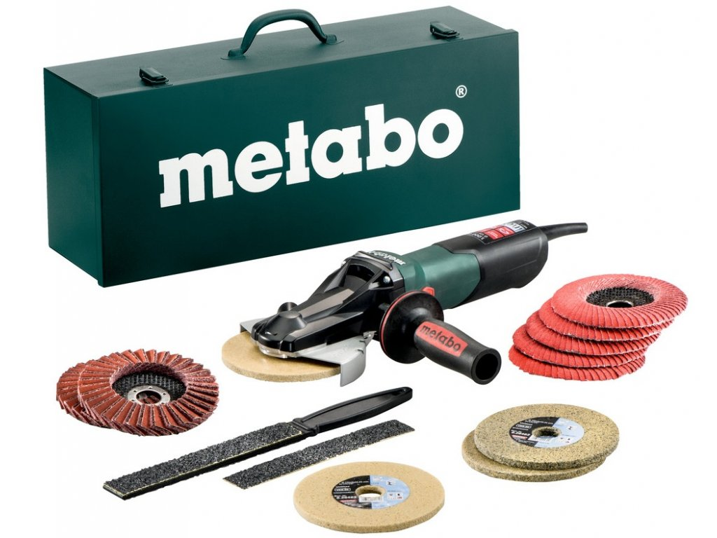 Úhlová bruska Metabo WEVF 10-125 Quick Inox Set