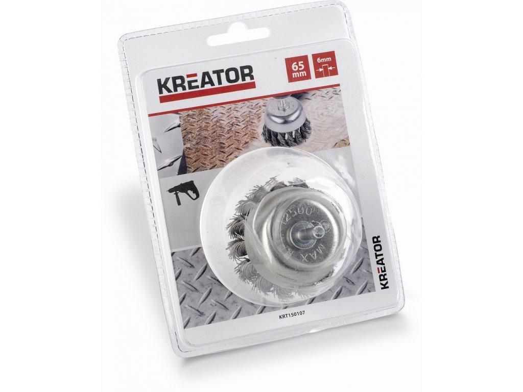 Brusný copánkový kartáč 65mm Kreator KRT150107