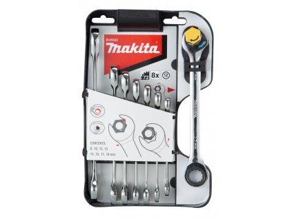 Makita B-65523 sada očkoplochých ráčnových klíčů 8 ks