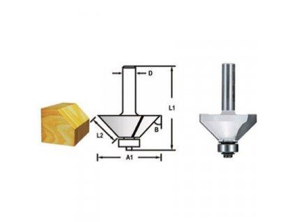Makita D-48686 hranová fréza s ložiskem 8 mm