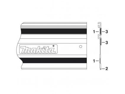 Makita 423361-5 pěnová hmota k liště 1400 mm