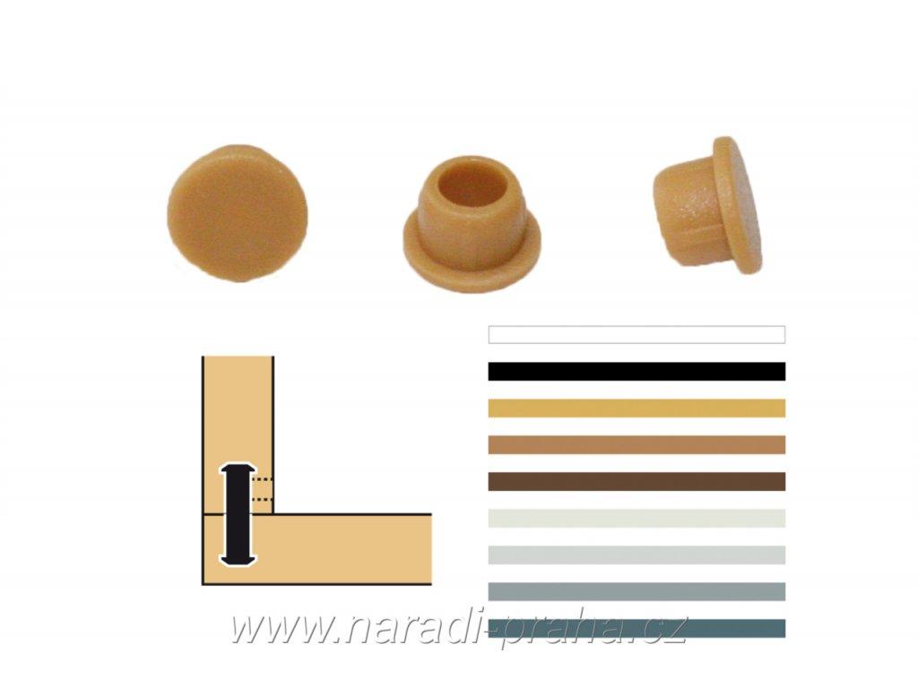 Lamello - krycí čepičky pod úhlem 90° (Barva RAL 7031 modro-šedá)