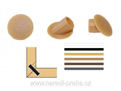 Lamello - krycí čepičky pod úhlem 45° (Barva RAL 7022 antracit)