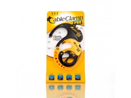Cable Clamp PRO – blistr 3 kusy mix S/M/L žlutá