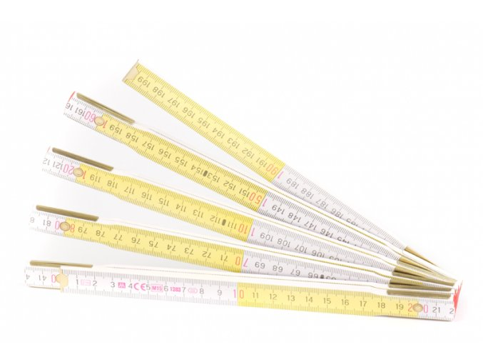 Metr skládací 1m METRIE žlutý