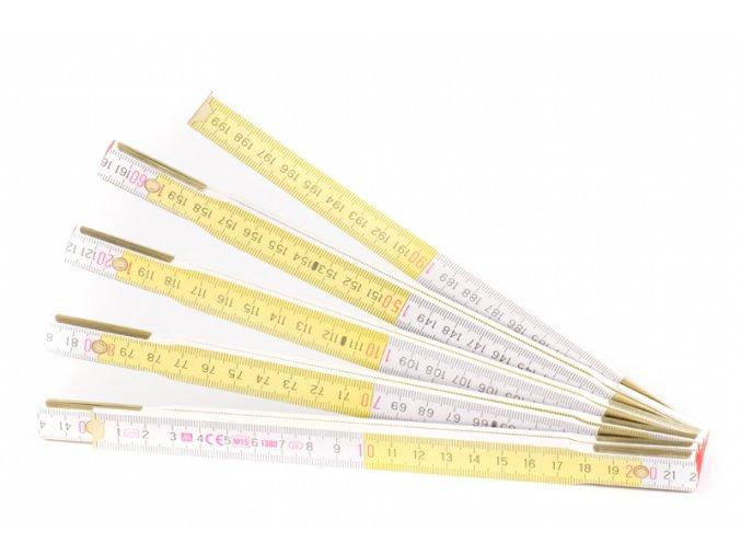 Metr skládací 2m METRIE bílo-žlutý