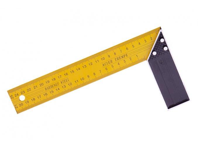 Úhelník ocel žlutý 25cm