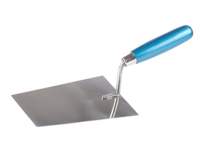 Lžíce nerez 16x11cm DŘEVO/modrá