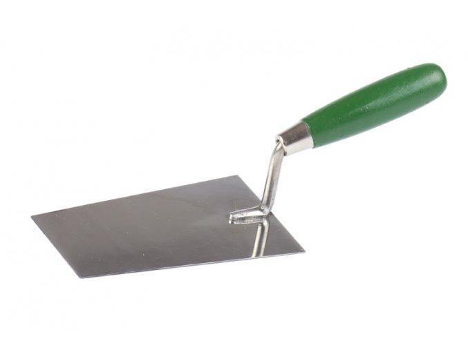 Lžíce nerez 16x7cm DŘEVO/zelená