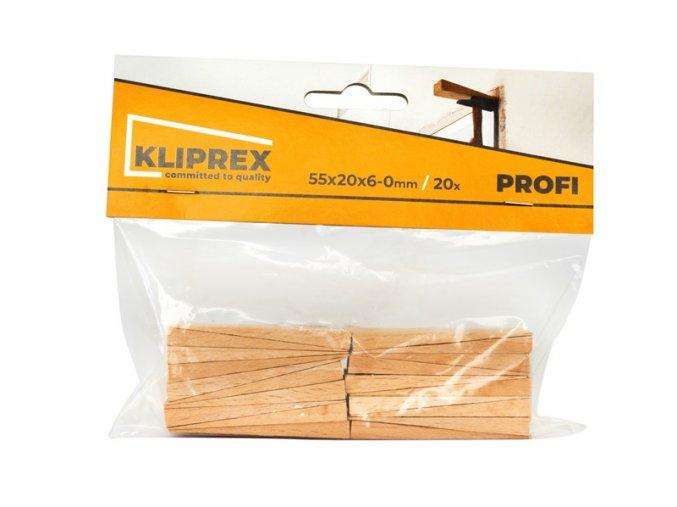 Klínky dřevěné BK 20ks/55x20x6-0