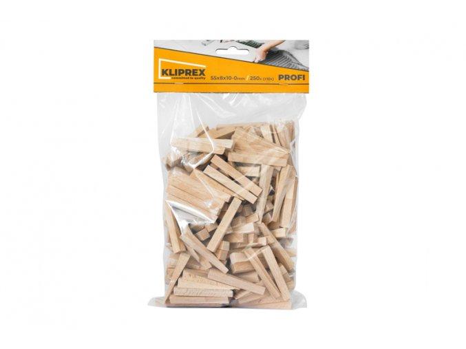 Klínky dřevěné BK 250ks/55x8x10-0