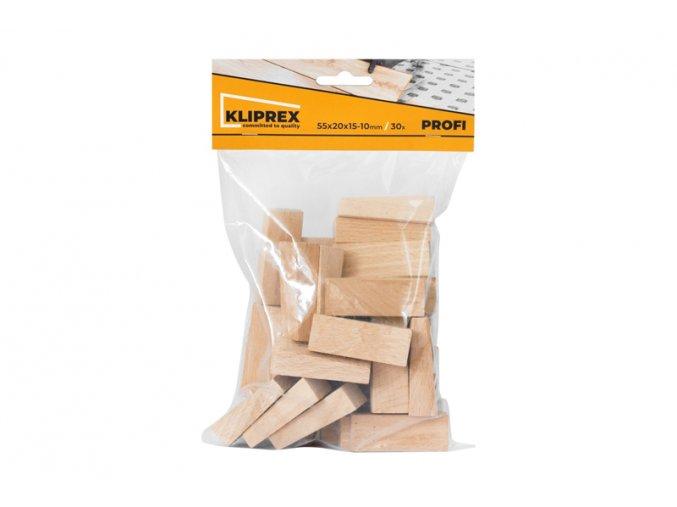 Klínky dřevěné BK 30ks/55x20x15-10