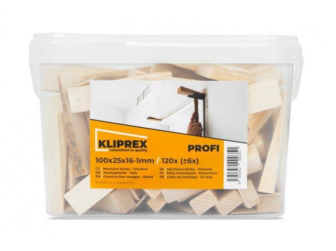 Klínky dřevěné SM 120ks/100x25x16-1