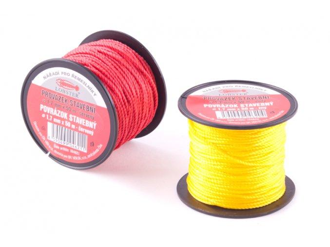 Provázek 1,7mmx50m žlutý