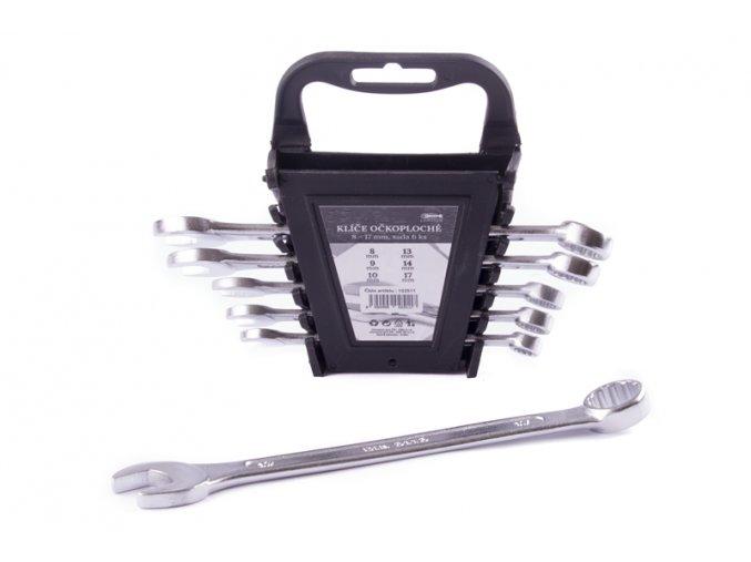 Klíče očkoploché 8-17mm/6ks