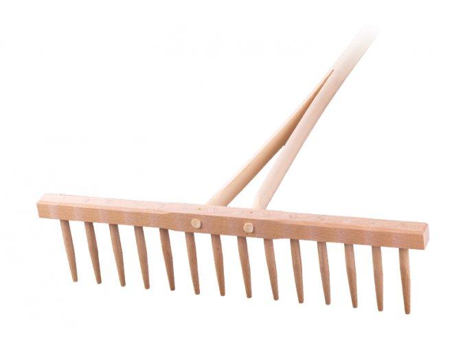 Hřeben dřevěný 14hrotů dřevo