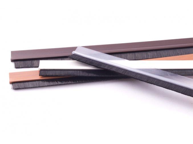 Lišta dveřní PVC-kartáč hnědý