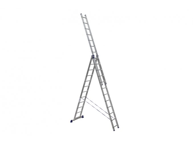 Žebřík třídílný Al 3x7příček ALUMET