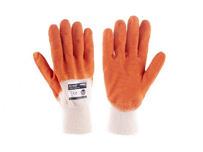 """Rukavice RUBBY 10.5"""" bílo-oranžové"""
