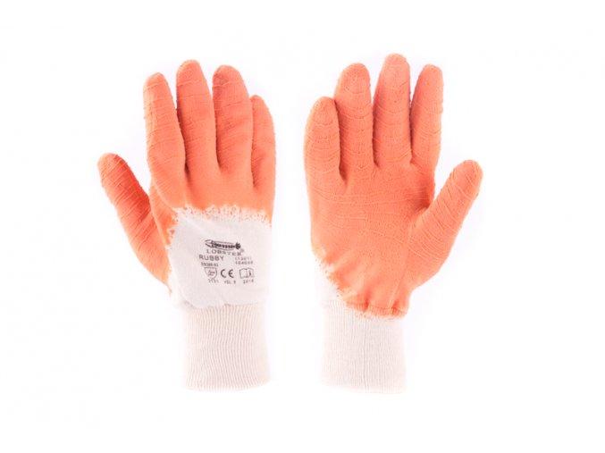 """Rukavice RUBBY 9"""" bílo-oranžové"""