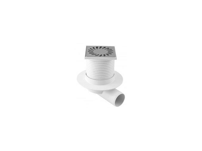 0516 podlahova vpust bocni s prirubou pvb 100x100 pr dn50 nerez 0 220x220