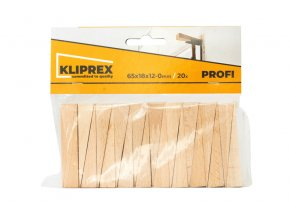 Klínky dřevěné BK 20ks/65x18x12-0