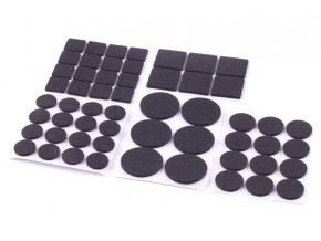 Podložky filcové 56ks černé