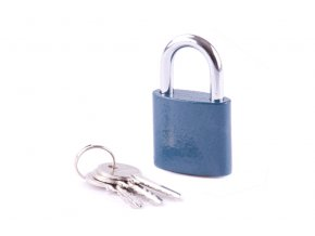 Zámek visací ocel 45mm modrý