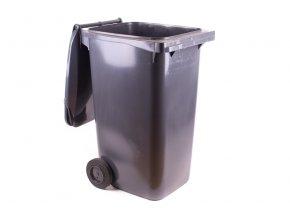 57220 popelnice hranata 240l pvc hneda