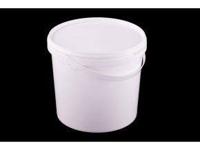 Vědro s víkem 5,6l/plast bílé