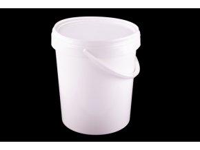 Vědro s víkem 15l/plast bílé