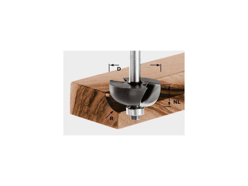 Vykružovací fréza HW, stopka 8 mm HW S8 D28,7/R8 KL