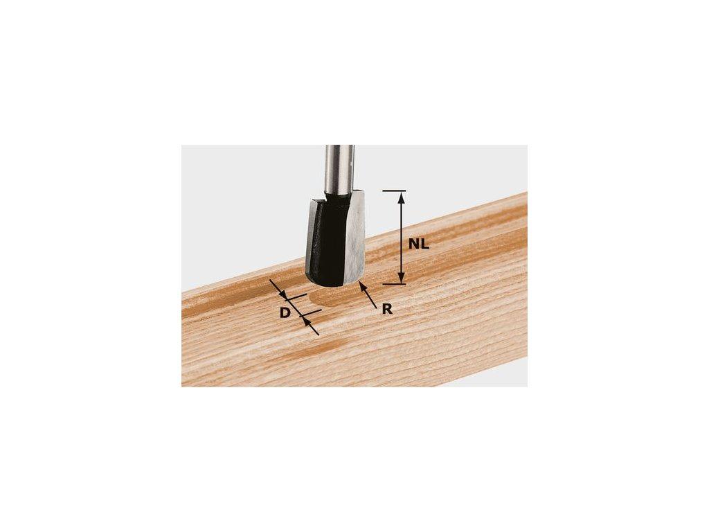 Žlábková fréza HW, stopka 8 mm HW S8 R5