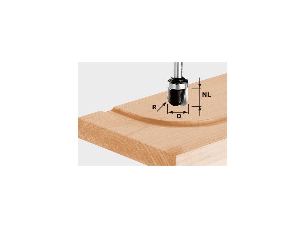 Žlábková fréza HW, stopka 8 mm HW S8 R6,4 KL