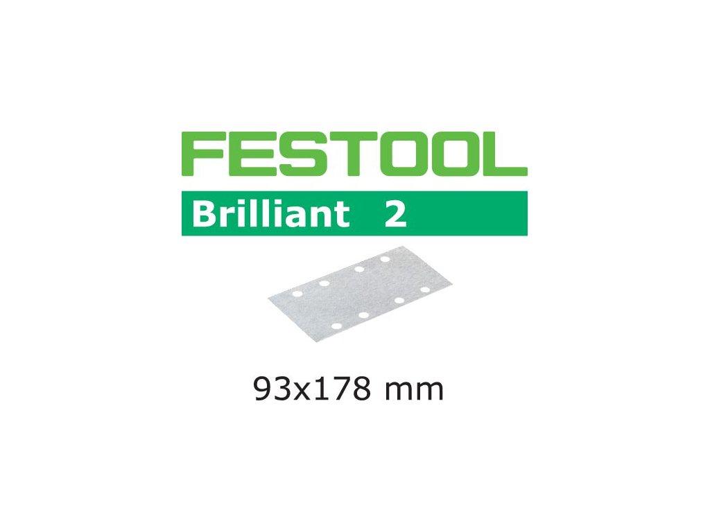Brusný papír STF 93x178/8 P180 BR2/100 Brilliant 2