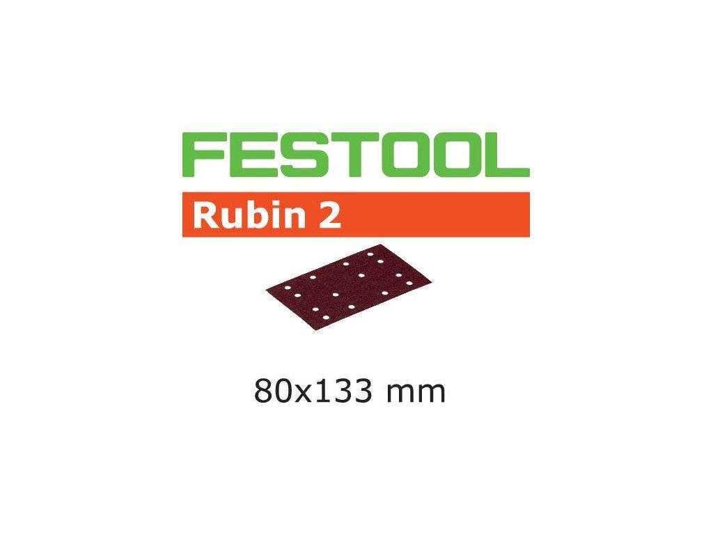 Brusný papír STF 80X133 P220 RU2/50 Rubin 2
