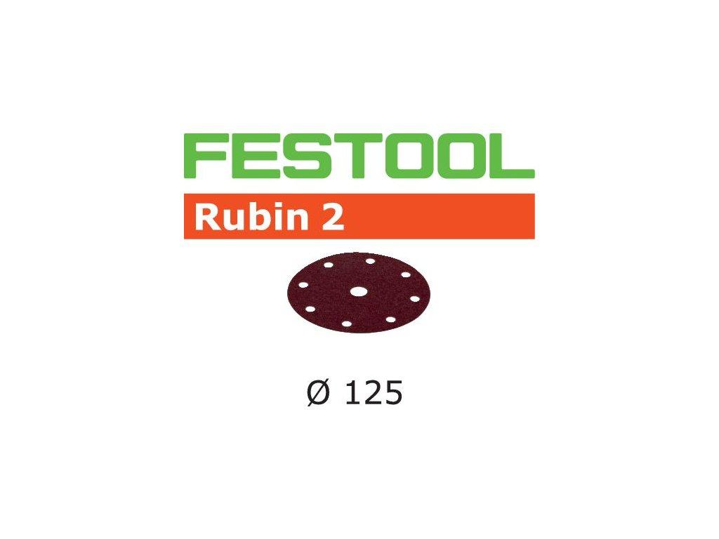 Brusné kotouče STF D125/8 P220 RU2/50 Rubin 2