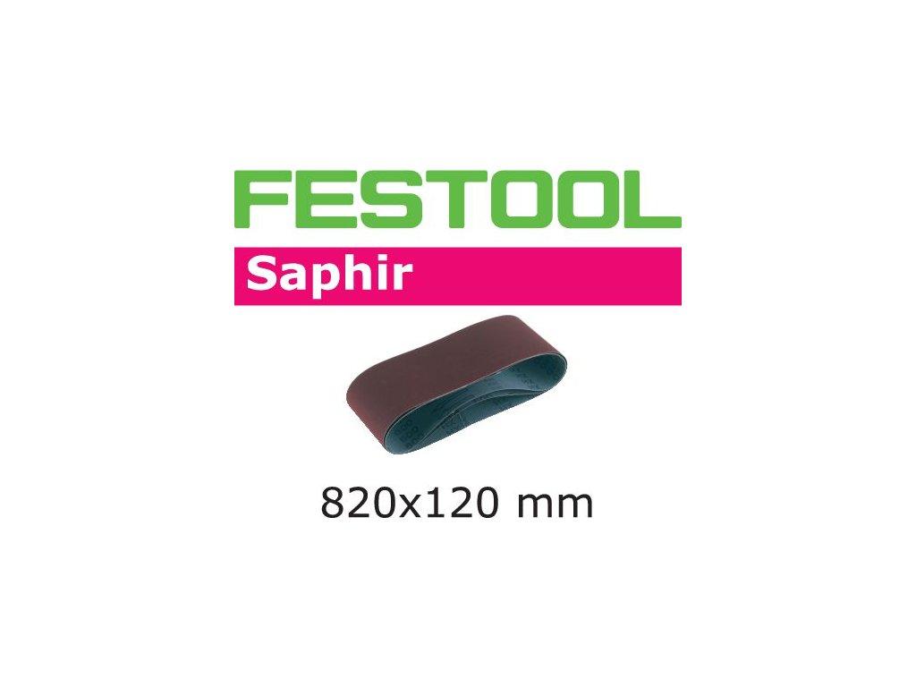 Brusný pás 820x120-P50-SA/10 Saphir