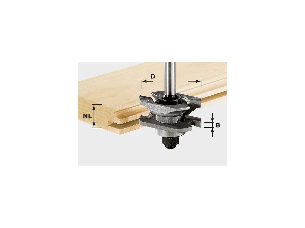 Fréza na profil drážky HW, stopka 8 mm HW S8 D46 x D12-NT