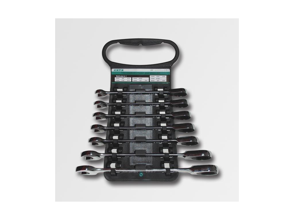 Sada ráčnových klíčů 10-19 7dílů plastový držák
