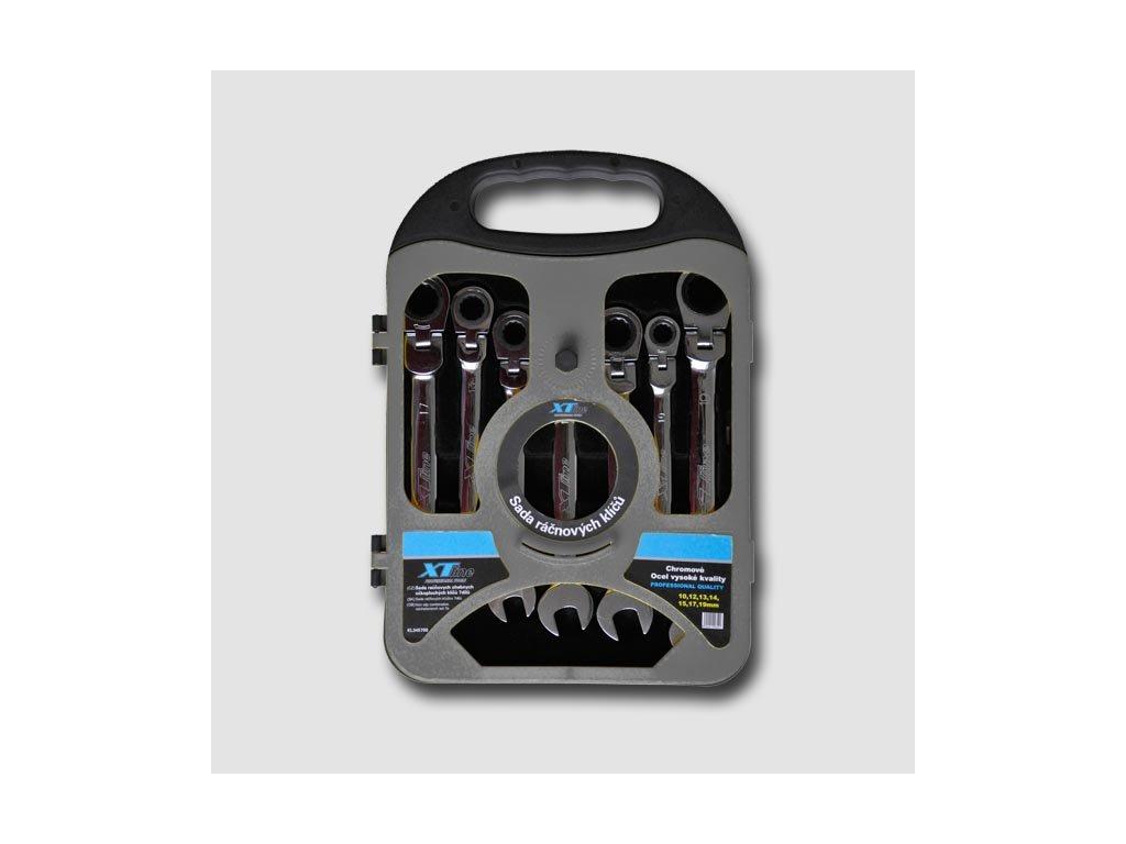 Sada ráčnových klíčů kloubových 10-19mm, 72 zubů