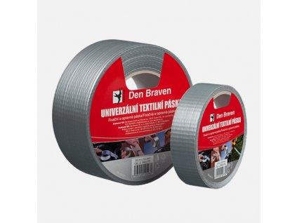 Den Braven - Univerzální textilní páska, 50 mm x 25 m, stříbrná