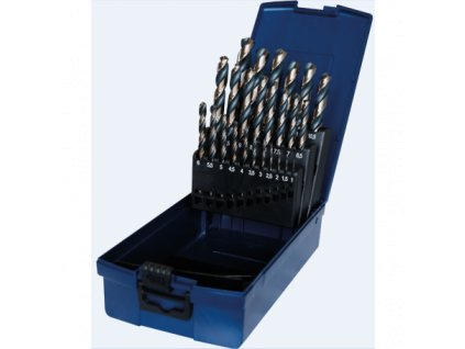 1 - 13 mm 25 dílná sada vrtáků do kovu HSS RATIO černozlaté