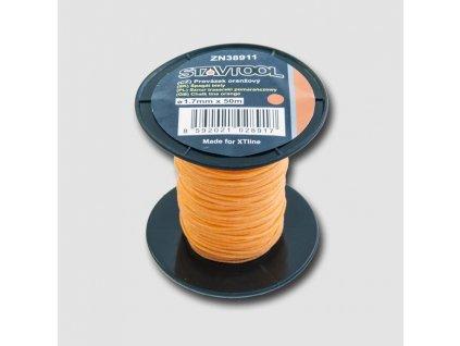 Provázek 50 m, 2 mm, oranžový