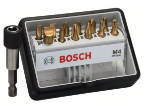 12+1-dielna súprava skrutkovacích hrotov Robust Line M Max Grip 25 mm, 12+1-dielna súprava