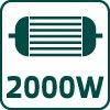 """Elektrická reťazová píla, 2000 W 52G584, lišty 16 """"(405 mm)"""