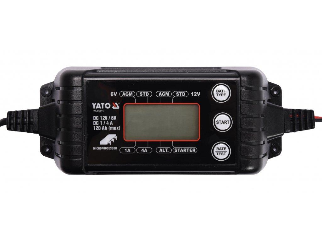Nabíječka 4A 6/12V PB/GEL LCD display