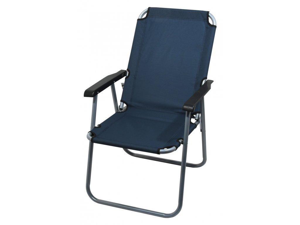 Židle kempingová skládací LYON tmavě modrá