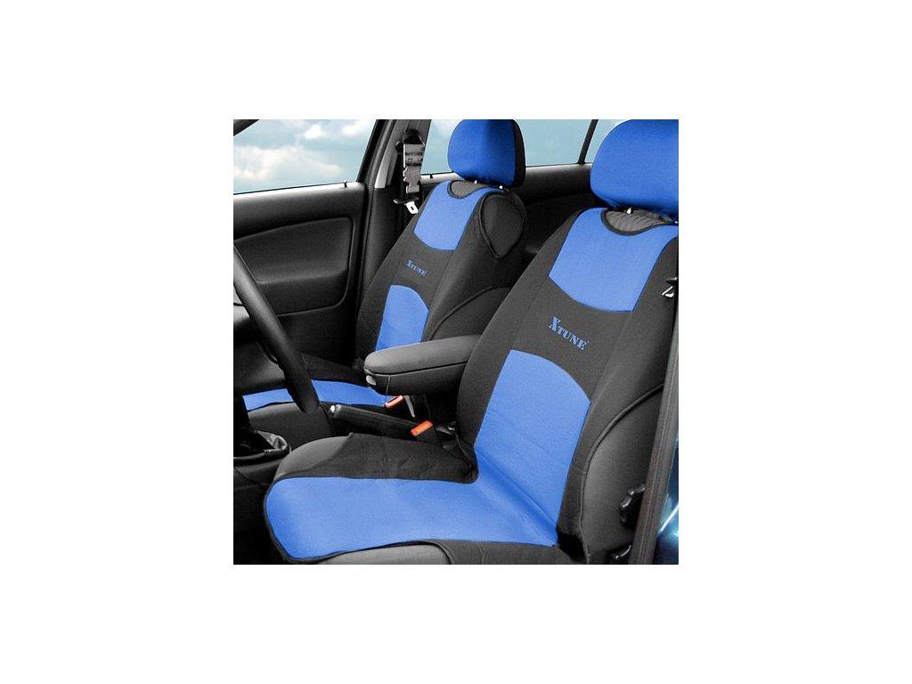 Potah sedadla TRIKO přední 2ks modrý