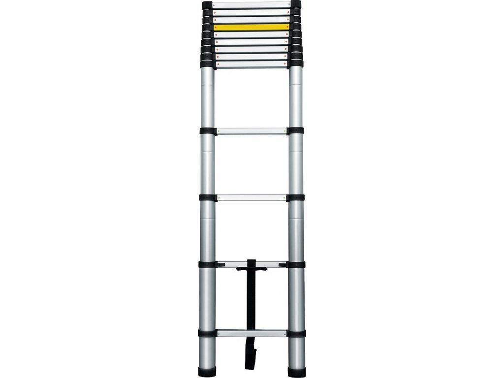 Žebřík teleskopický, 0,88-3,8m, 13 příček, nosnost 150kg